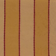 Red/Gold Stripes Drapery and Upholstery Fabric by G P & J Baker