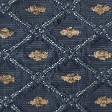 Blue Drapery and Upholstery Fabric by Scalamandre