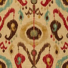 Beige/Brown/Red Ethnic Drapery and Upholstery Fabric by Kravet