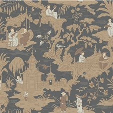 Charcoal Wallcovering by Cole & Son Wallpaper