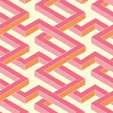 Pink Print Wallcovering by Cole & Son Wallpaper
