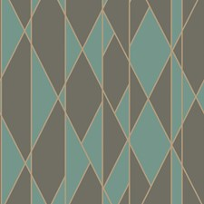 Teal and Black Print Wallcovering by Cole & Son Wallpaper