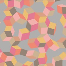 Pink and Orange Print Wallcovering by Cole & Son Wallpaper