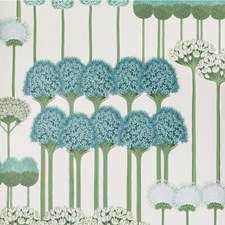 Teal/Jade/White Print Wallcovering by Cole & Son Wallpaper