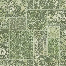 Green Scroll Wallcovering by Brewster