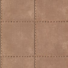 Copper Feature Wall Wallpaper Wallcovering by Brewster
