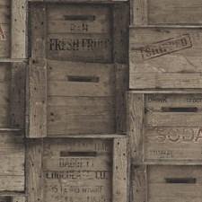 Dark Wood Wallcovering by Brewster