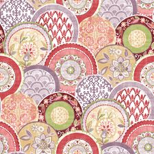 Pink Medallion Wallcovering by Brewster