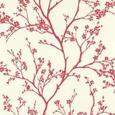 Raspberry Wallcovering by Schumacher Wallpaper