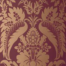 Mahogany Wallcovering by Schumacher Wallpaper