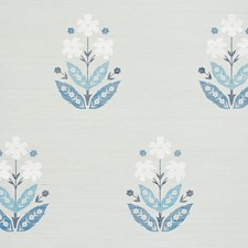 Blues Wallcovering by Schumacher Wallpaper