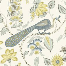Cadet/amp/Citron Wallcovering by Schumacher Wallpaper