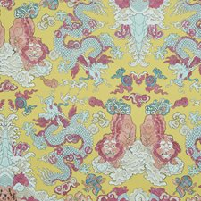 Yellow Wallcovering by Schumacher Wallpaper