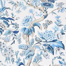 Blue Wallcovering by Schumacher Wallpaper