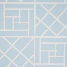 Sky Blue Wallcovering by Schumacher Wallpaper