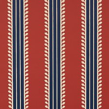 Red/Blue Wallcovering by Schumacher