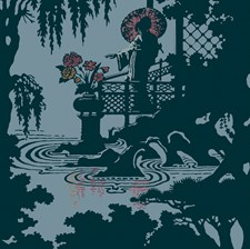 Teal Wallcovering by Cole & Son Wallpaper