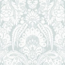 Pale Blue and White Wallcovering by Cole & Son Wallpaper