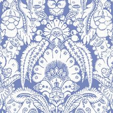 Blue and White Wallcovering by Cole & Son Wallpaper