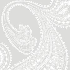 White/Lilac Paisley Wallcovering by Cole & Son Wallpaper