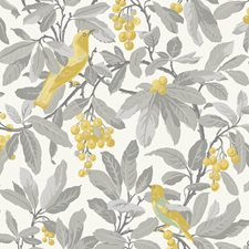 Grey/Yellow Botanical Wallcovering by Cole & Son Wallpaper
