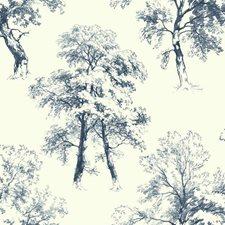 Navy/White Botanical Wallcovering by York