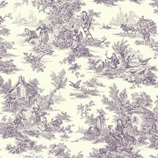 Purple/White Animals Wallcovering by York