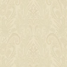 Beige/Gold/Green Paisley Wallcovering by York