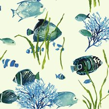 White/Light to Dark Blue/Yellow Novelty Wallcovering by York