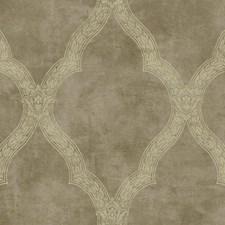 Soft Metallic Gold/Beige Trellis Wallcovering by York