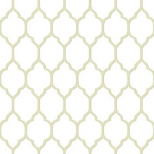 Heavy Cream/Beige/Taupe Trellis Wallcovering by York