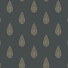 Black/Beige/Gold Metallic Wallcovering by York