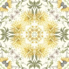 Off-white/Yellow Botanical Wallcovering by York