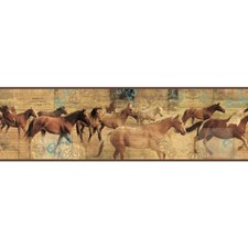 Blue/Gold/Brown Animals Wallcovering by York