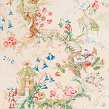 Ecru Asian Wallcovering by Brunschwig & Fils