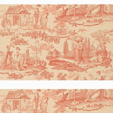 Rose Toile Wallcovering by Brunschwig & Fils