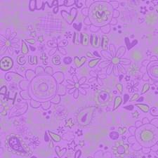 Light Purple/Medium Purple/Silver Children Wallcovering by York