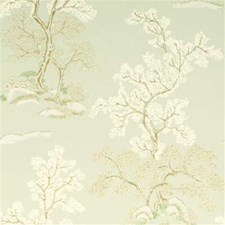 Pale Aqua Botanical Wallcovering by G P & J Baker