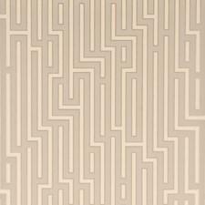 Silver Geometric Wallcovering by G P & J Baker