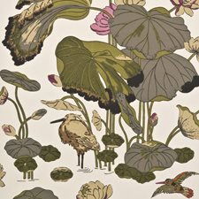 Olive/Linen Animal Wallcovering by G P & J Baker