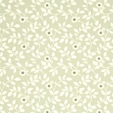 Green/Ivory Wallcovering by G P & J Baker