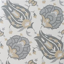 Dove/Stone Damask Wallcovering by G P & J Baker