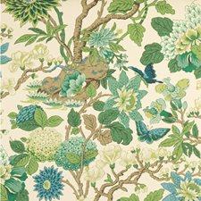 Emerald/Teal Botanical Wallcovering by G P & J Baker