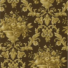 Brown Ogee Wallcovering by Brewster