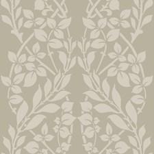 Brown/Metallic Gray Botanical Wallcovering by York
