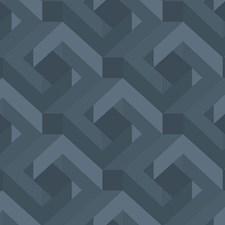 Blue Geometrics Wallcovering by York