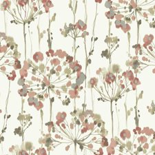 Off White/Pink/Taupe Floral Wallcovering by York