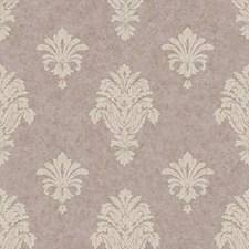 Purple/Cream Fleur De Lis Wallcovering by York
