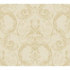 Beige/Taupe/Gold Traditional Wallcovering by York