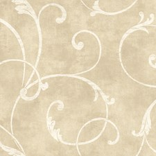 Creamy Tan/Matte Cream Botanical Wallcovering by York